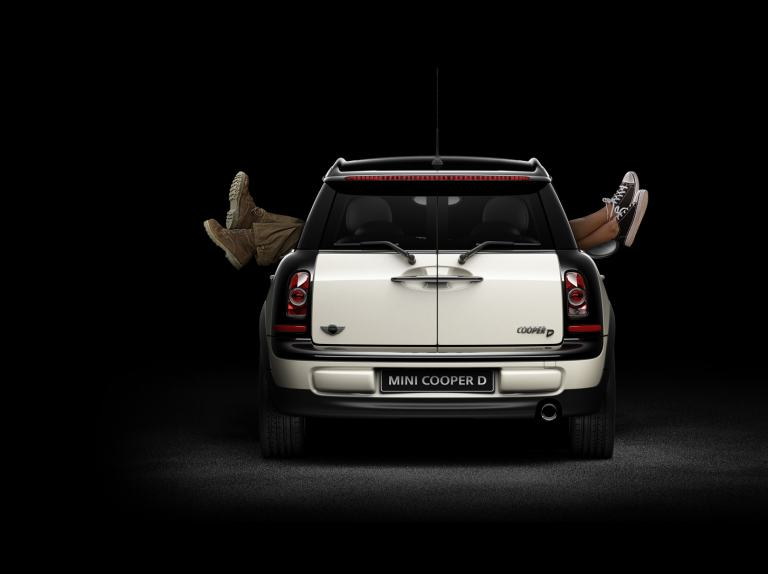 MINI Balloon Financing. Mini Cooper D back profile shot.